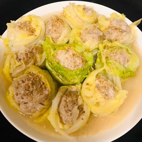 豚ミンチの白菜シュウマイ