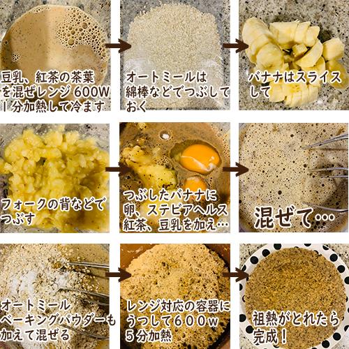 オートミール紅茶バナナケーキの作り方(簡易版)