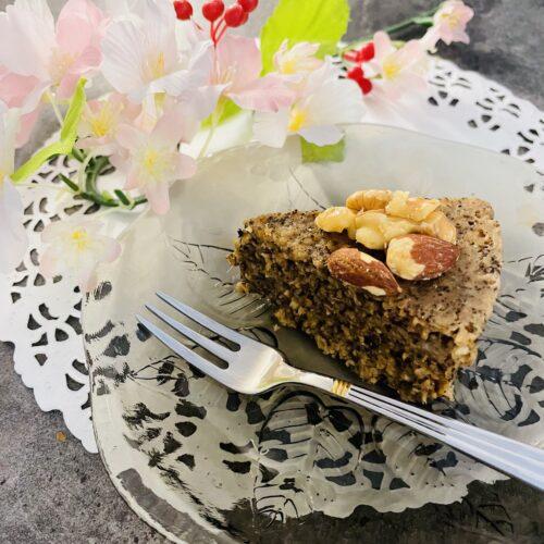 【糖質13g】レンジで簡単♪オートミール紅茶バナナケーキ 出来上がりピース