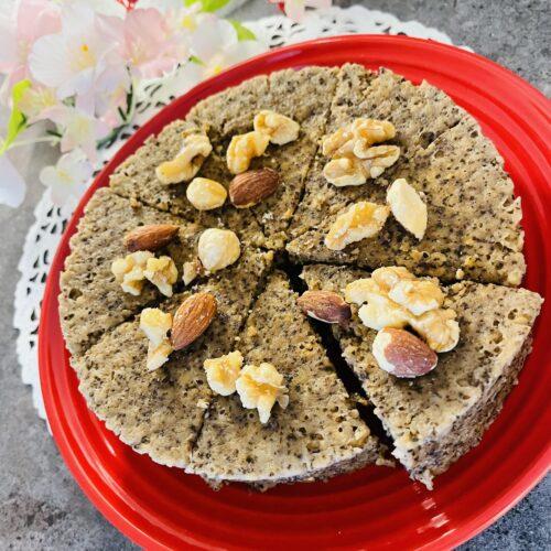 【糖質13g】レンジで簡単♪オートミール紅茶バナナケーキ