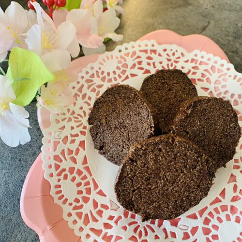 【糖質1g】サクサクほろにが♪チョコ風味のココアクッキー