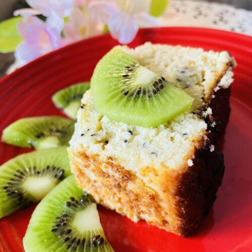 【糖質5.6g】相性ピッタリ♪キウイとヨーグルトのパウンドケーキ